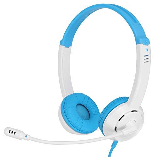 Kabelgebundene Kopfhörer, Singal Directional mit kabelgebundenem 3,5-mm-Mikrofon-Gaming-Kopfhörer zum Musikstudium(White)