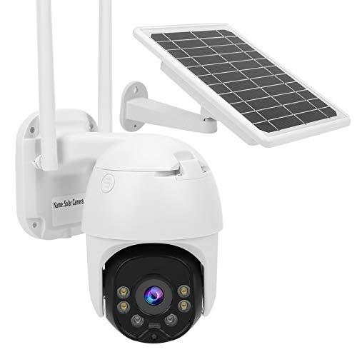 CCTV para Exteriores, Monitor de Seguridad para el hogar IP67, cámara Solar Impermeable de 8 W 1080P, para Granjas de cría, entradas a hogares,(4G-European Version)