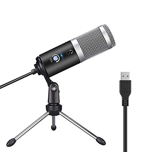 YWT USB Microfoon, Condenser Microfoon, Plug-and-Play Home Studio Microfoon, voor YouTube, Facebook, Skype, Google Zoeken, Podcasts, Games