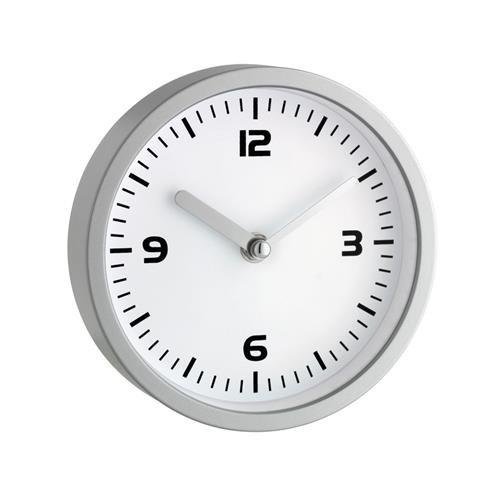 TFA Dostmann Analoge Badezimmeruhr, 60.3012, feuchtigkeitsgeschützt, ohne Bohren mit Saugnäpfen, silber