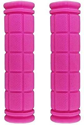 ARJudy Bike Grips - Non Slip Soft Rubber Mountain Bicycle Handlebar BMX Bike Handle Grips (Pink)
