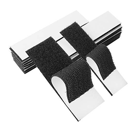 40PCS Bande Velcro Bande Velcro auto-adhésive double face 20x200mm | Bande polaire auto-adhésive de 40 x 200 mm de large et bande à crochet