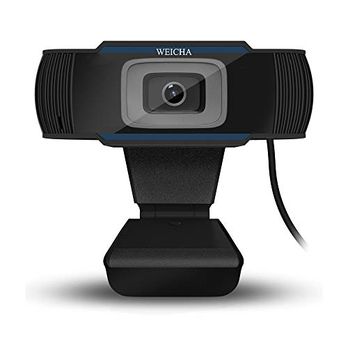 1080P HD Webcam with Microphone, Webcam for Gaming Conferencing, Laptop or Desktop Webcam, USB Computer Camera for Mac, Free-Driver Installation Fast Autofocus Blue