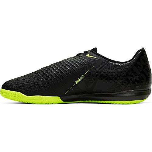 Nike Mens Phantom Venom Academy Indoor Soccer Shoes (7.5, Black/Volt)