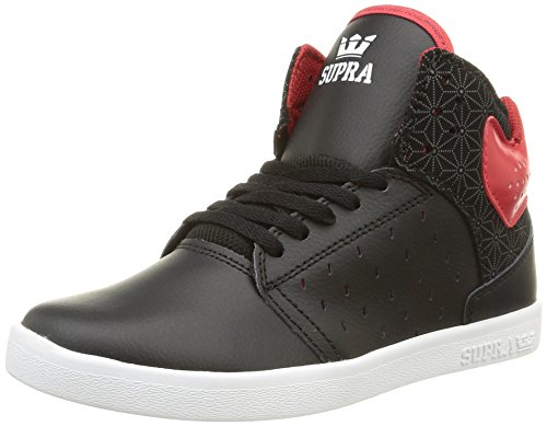Supra Unisex-Erwachsene Atom High-top, Schwarz (Black/red/White), 34.5 EU