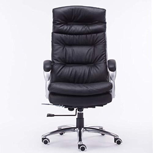 N/Z Équipement Quotidien Chaise d'ordinateur Bureau Boss Chaise en Cuir Salle d'étude Chaise de Massage Salon Ascenseur Fauteuil Noir Chaise d'ordinateur Boss Chaise Noir 72cm * 72cm * 72cm