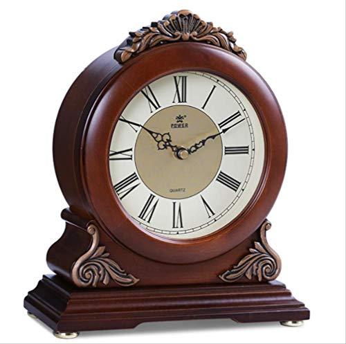 Reloj De Escritorio De Madera Maciza De Alta Gama, Reloj De Mesa...