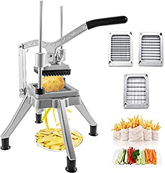 IIS Upgrade Commercial Vegetable Fruit Chopper With 1/2″,1/4″,3/8″ Blades Heavy Duty Professional Food Dicer Kattex French Fry Cutter Onion Slicer Stainless Steel For Tomato Peppers Potato Mushroom