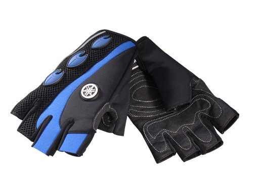 Yamaha OEM 3/4 Finger Watercraft Riding Gloves Blue XX-Large