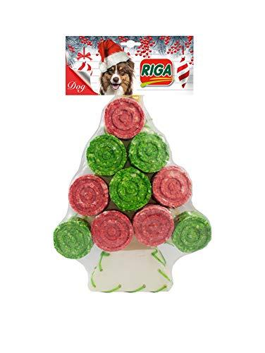 Riga Weihnachten, Weihnachtsbaum, Kau Artikel für Hund, 2er Pack (2 x 265 Grams)