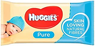 Huggies Pure Baby Wipes 56 per Pack - Pack of 6