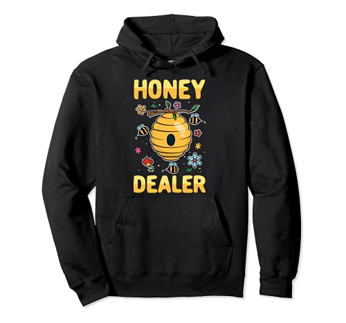 Honey Dealer Distribuidor de Miel Apicultura Panal Abeja Sudadera con Capucha
