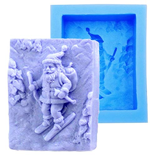 Silicone Mold Santa Claus, Christmas Theme Craft Art Silicone Soap Mold, Craft Molds DIY Handmade Soap Molds - Best Handmade soap for Christmas Gifts - Soap Making Supplies by YSCEN