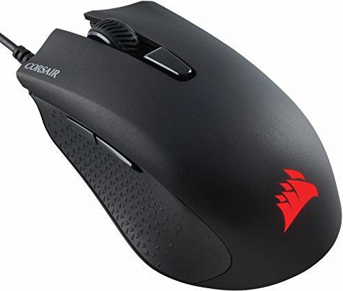 Corsair Harpoon RGB Optisch Gaming Maus (RGB-LED-Hintergrundbeleuchtung, 6000 DPI) schwarz (Generalüberholt)