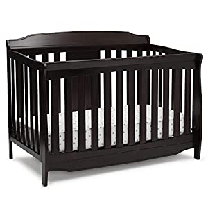 Delta Children Westminster 6-in-1 Convertible Baby Crib, Dark Chocolate