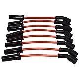 A-Team Performance Silicone Spark Plug Wires Compatible with GMC Chevy Car 8' Vortec LS LS1 LS2 LS3 LS6 LS7 4.8L 5.3L 5.7L 6.0L 6.2L 7.0L 1999-2014 Red 8.0mm