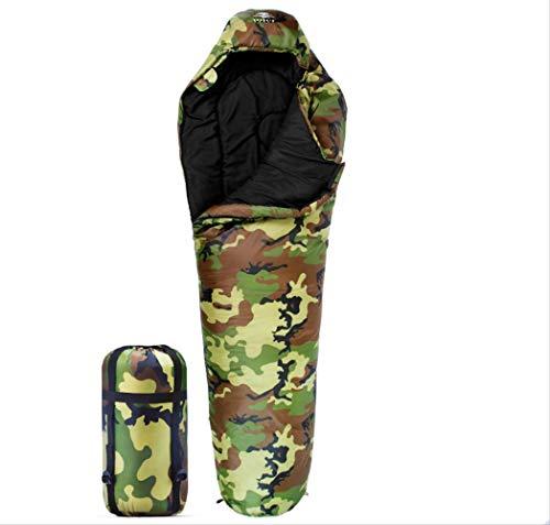 ZGRZ Saco de Dormir Camuflaje Adulto Invierno portátil al Aire Libre Acampar Espesamiento Cálido Viaje Momia Saco de Dormir 1.6 kg