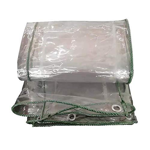 Qazxsw Lonas, Lona Multiusos, Lona Grande, Resistente, Impermeable con Ojales, Transparente Resistente a los Rayos Ultravioleta para Camping/Ventana/Camiones/Barco/Techo, 4Mx5M