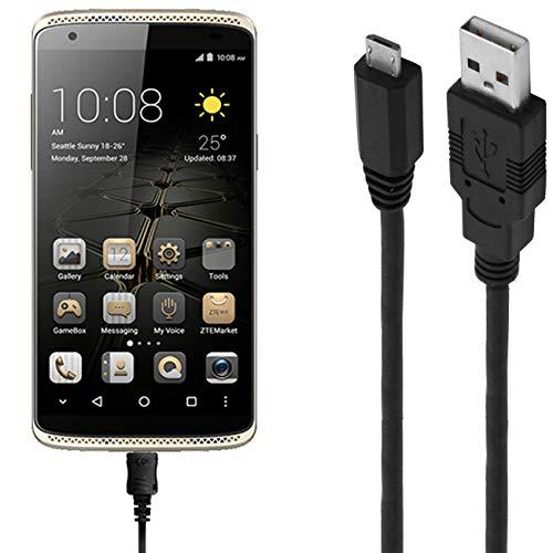 Ladekabel/Datenkabel kompatibel für ZTE Axon Mini Premium Edition - schwarz - 1m