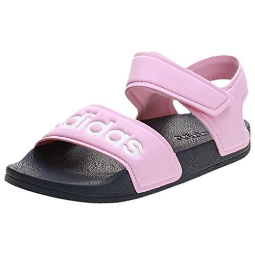 Adidas Adilette Sandal K, Unisex-Bambini, Rosaut/Ftwbla/Azutra, 32 EU