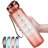 DYD Botella de agua de 32 oz con marcador de tiempo y filtro extraíble, botellas de agua motivacionales sin BPA, botella grande a prueba de fugas para fitness, gimnasio y deportes al aire última...