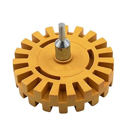 Lodenlli 4 Inch Universal Rubber Eraser Wheel For Remove Car Glue Adhesive Sticker Auto Repair Paint Tool Rubber Eraser Wheel