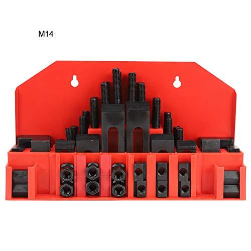 Kit de abrazadera con ranura en T de 58 piezas Placa de prensa combinada endurecida para fresadora de torno M14 372,1 oz