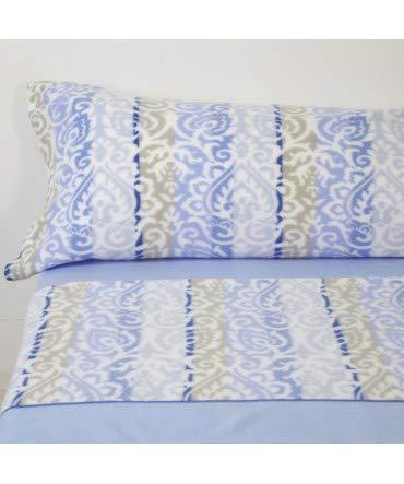 Lot de 10 draps en Flanelle Bleu Corinto 100% Polyester