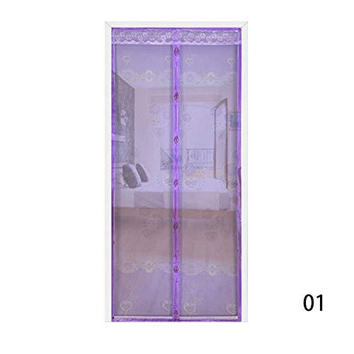 Encriptación de la cortina de la puerta antimosquitos magnética de manos libres de verano decoración de la cortina de la puerta del imán de la red antimosquitos A1 W110xH210