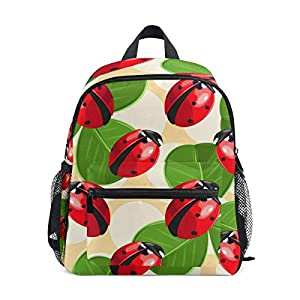 41X h1roNPL. SS300  - Mochila para niños Ladybug and Clover Kindergarten Preescolar Bolsa para niñas pequeñas Niños Niños