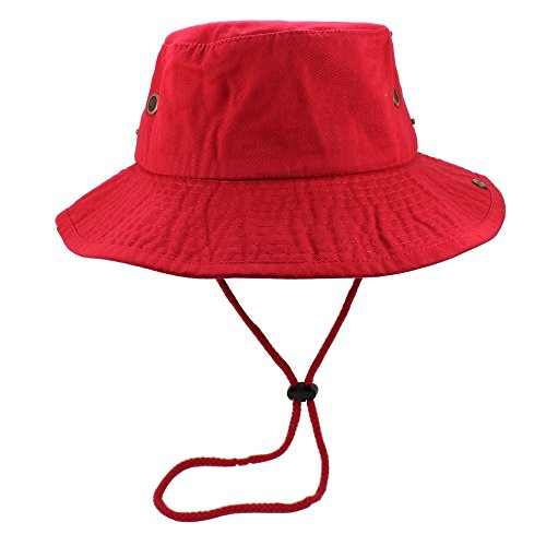 Product Image 2: Gelante 100% Cotton Stone-Washed Safari Booney Sun Hats 1910-Red-S/M