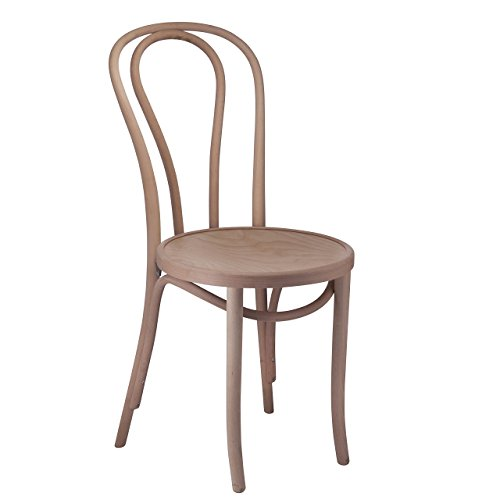 Bentwood 1018 Hairpin Side Chair | Handcrafted Wooden Michael Thonet Chair with a Beechwood Frame | Rustic Indoor Furniture Decor for Kitchen, Dining, Bedroom, Bistro, Vanity | Unfinished Set of 2