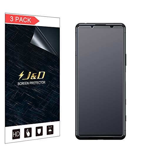 J&D Compatibile per Sony Xperia 5 II Protezione Schermo, 3 Confezioni Anti-riflesso Non Piena Copertura Matte Pellicola Protettiva per Xperia 5 II