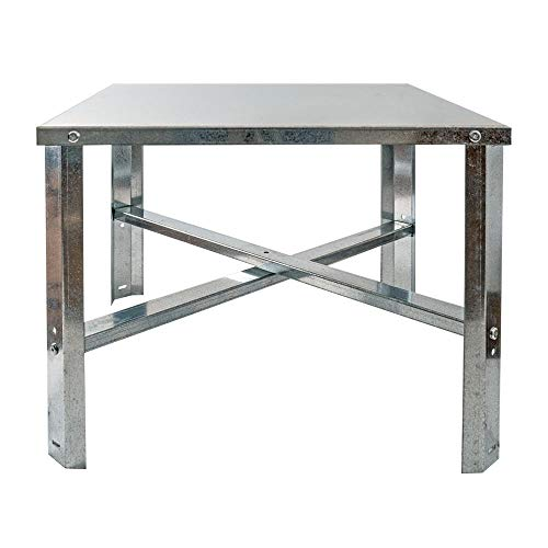 Eastman 86279 Water Heater Stand, 24 inch, 75-100 Gallon, Silver