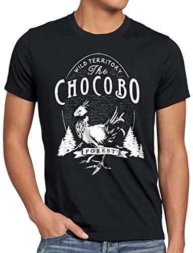 CottonCloud Wild Chocobo Herren T-Shirt final VII Rollenspiel, Größe:XL, Farbe:Schwarz