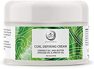 Grow Bar - Curl Defining Cream - smooth, non-sticky moisturizing gel cream formula, deeply penetrates and conditions wavy and curly hair to restore its definition and activate curls - size 4 oz