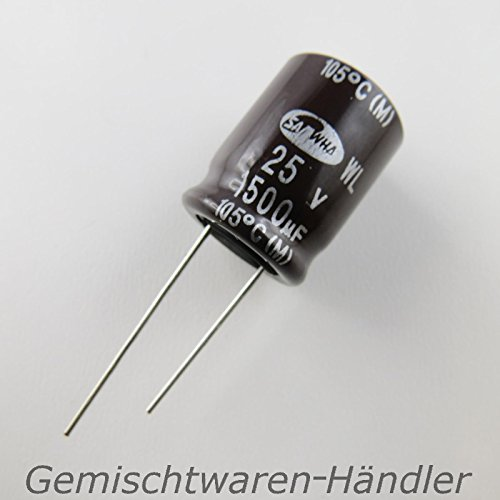 Générique 5X Marken Elko 820µF 25V Elektrolytkondensator Kondensator MF uF Capacitor LowIm