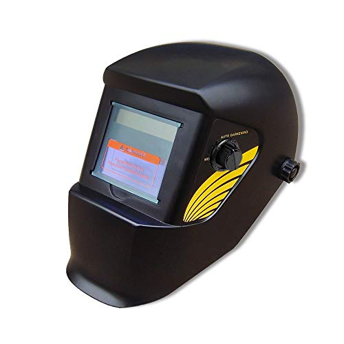 LARS360 Solar Schweißhelm Automatik Schweißmaske Schweißschirm Schweißschild für TIG MIG ARC alle Schweißanwendungen mit Großes Sichtfeld und UV-Schutz (Gelbe Flügel)