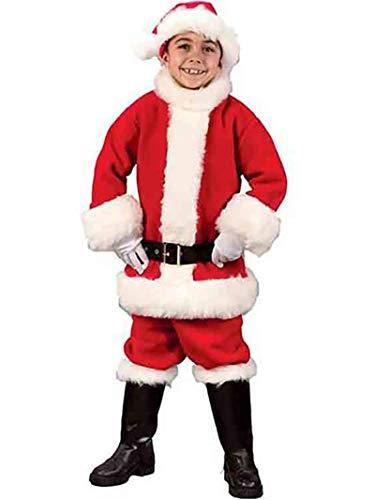 Flannel Santa Costume - Child Medium