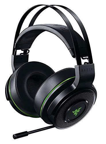 Razer Thresher Xbox One - Wireless Gaming Headset für Xbox One & PC (Kabellose Kopfhörer, bis zu 16 Stunden Akku-Laufzeit, 50-mm Treiber, Windows Sonic, Ohrpolster aus Kunstleder) Schwarz-Grün