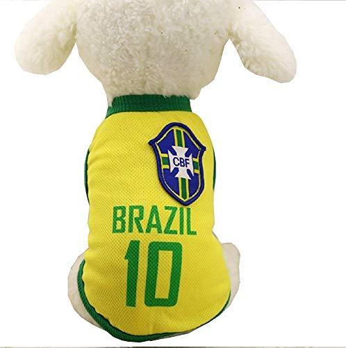 Legisdream Disfraz de Abanico para Animales Equipo fútbol microbista ultrà Brasil Perro s