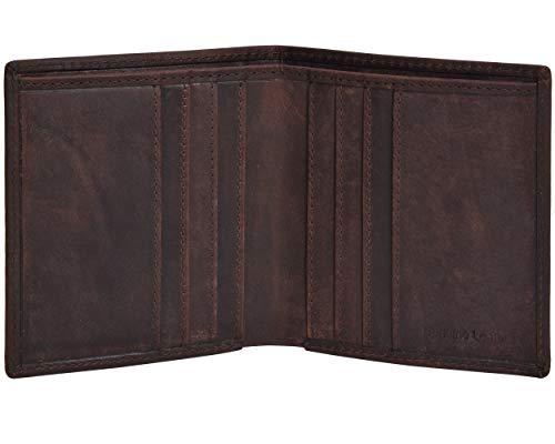 Carteras pequeñas de cuero Eono Essentials con billetera ultradelgada con compartimento de 2 notas RFID para hombres y mujeres
