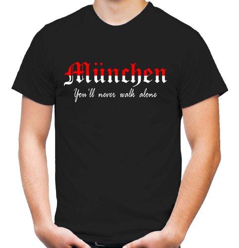 München Triumph T-Shirt | Fussball | Basketball | Bayern | Trikot | Ultras | Männer | Herren | Fanshirt | rot (XL)