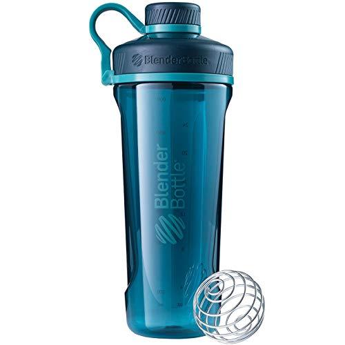 BlenderBottle Radian Tritan Trinkflasche mit BlenderBall, geeignet als Eiweiß Shaker, Protein Shaker, Wasserflasche, BPA frei, skaliert bis 700 ml, Fassungsvermögen 940 ml, Tiefsee grün
