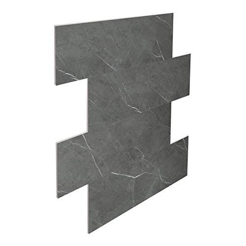 Wandfliesen ohne Fugen | Badezimmer | grau marmoriert | SPC Vinylfliesen | Küche | Bodenfliese | Klicksystem | 75x30,5cm | PS33 | 2.29qm