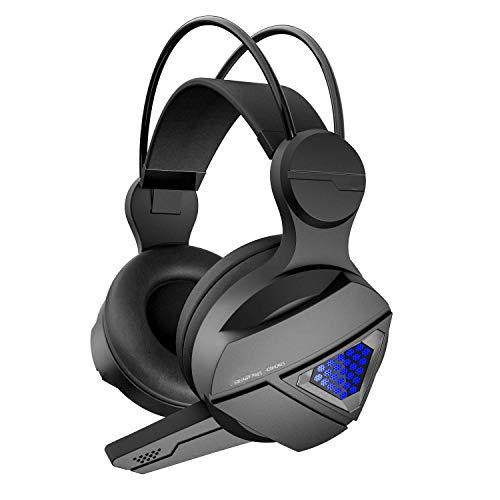 Auriculares con Cable, Foto RGB, con micrófono, Ligero, Ajustable, Adecuado para PC/Mac // Slim/PSP YXF99