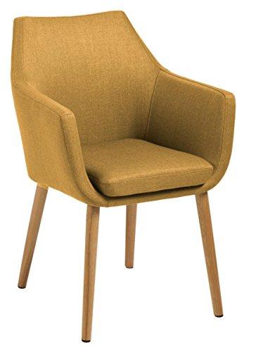 designbotschaft: Stockholm Stuhl Curry / Eiche - Esszimmerstühle 1 Stck