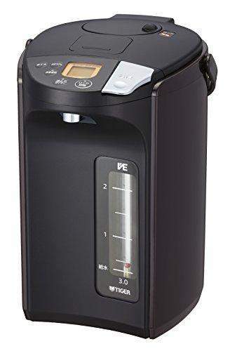 タイガー魔法瓶(TIGER) 電気ポット 蒸気レス VE 電気 まほうびん とく子さん 3.0L ブラウン PIS-A300-T