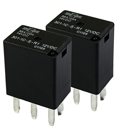 Song Chuan Automotive Relays 12Vdc 35A Iso 280 W/Resistor (Pack of 2)