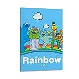Berühmte Kunst Gemälde Poster Sesamstraße Regenbogen